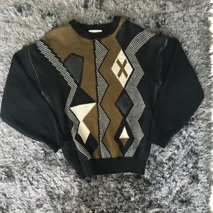 🎈90's Vintage Pleather Accent Sweater🎈